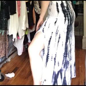 Super flowy high cut tie dye skirt